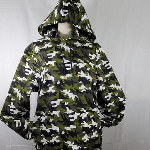 Michael Kors olive camo hoodie